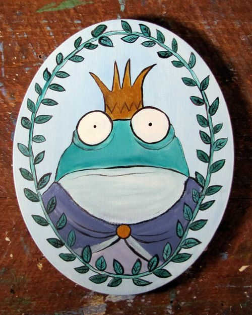 http://ehealthyrecipes.com/ . Frog Prince Fairy Tale Art Original Painting for Kids by andralynn ✿