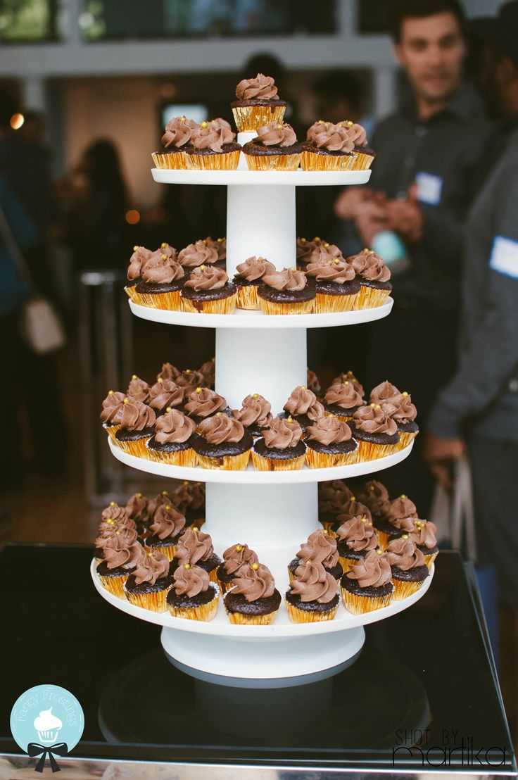 Double Chocolate #Cupcake Tower by @FancyFrostings_ for The Hip Haus  Photo: Martika Gregory
