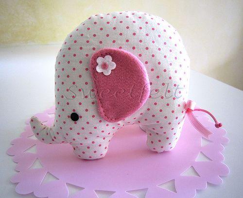 ♥♥♥ Rosinha, a elefantinha... para as meninas! by sweetfelt  ideias em feltro