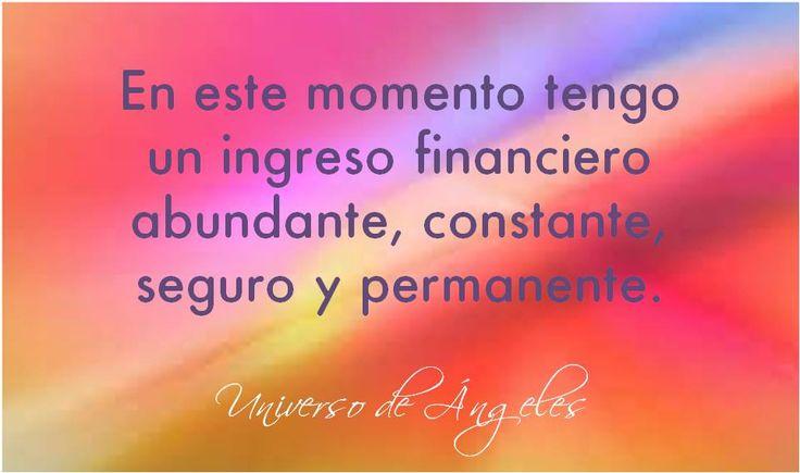 Afirmación de ABUNDANCIA.  #UniversoDeAngeles