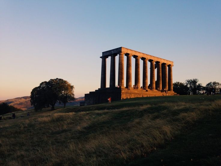 National Monument of Scotland at sunset, Calton Hill, Edinburgh