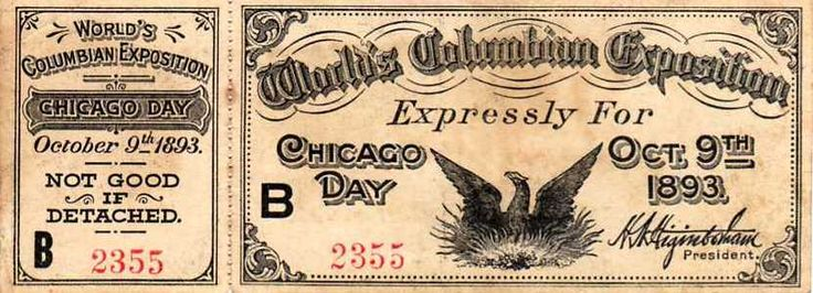 Worldsfairticket - World's Columbian Exposition - Wikipedia, the free encyclopedia