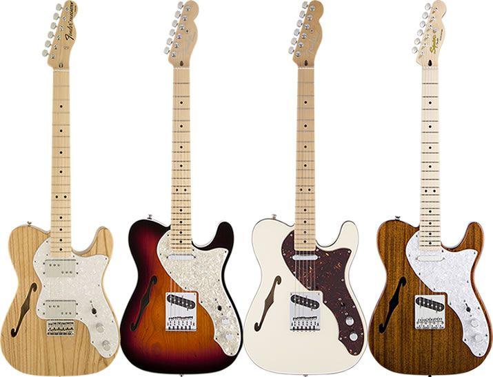 テレキャスター・シンラインは、エレキギターの更なる軽量化を目指し、1969年にリリースされました。