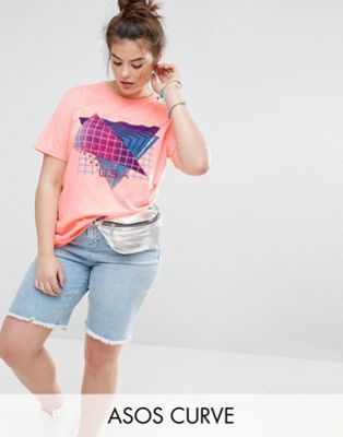 ASOS CURVE T-Shirt with Ultimate 80s Motif