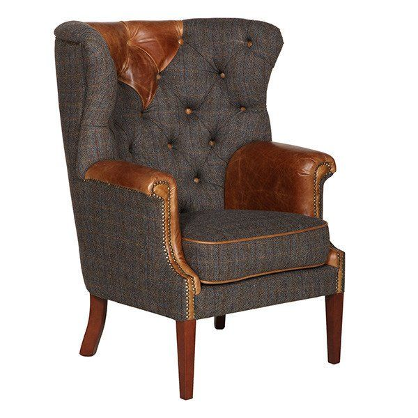 Kensington Wingback Armchair Pinterest Harris Tweed