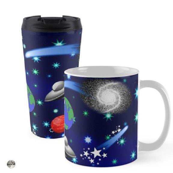 Alien Rocket Star Mug