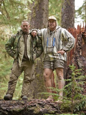 """Dual Survival"". Dave Canterbury and Cody Lundin. I love these guys. One of the best survival shows ever!!"