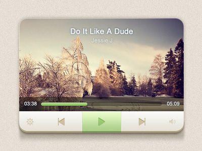Dribbble - Player UI by Lu Jun