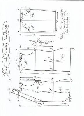 Esquema de modelagem de Blazer Smoking tamanho 50.