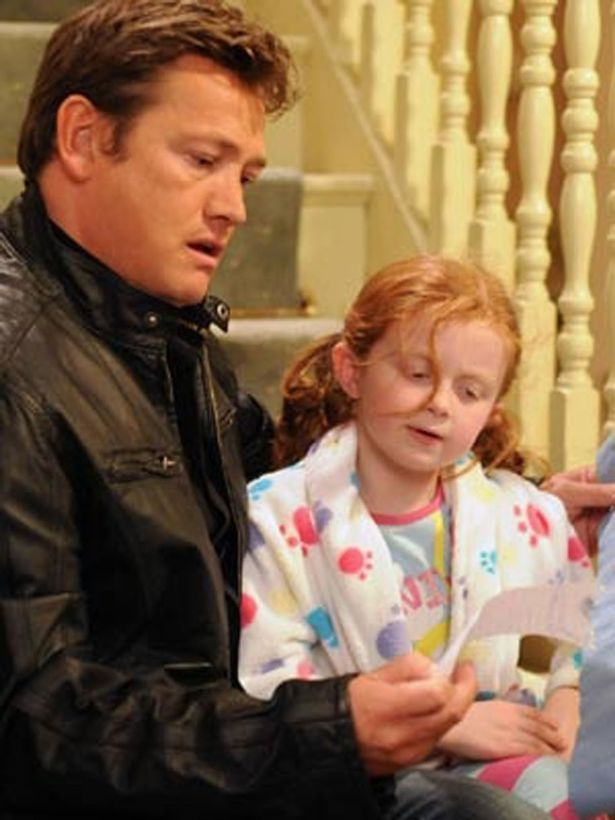 Tiffany and Ricky were delighted to be father and daughter in one of the nicer EastEnders shocking soap storylines