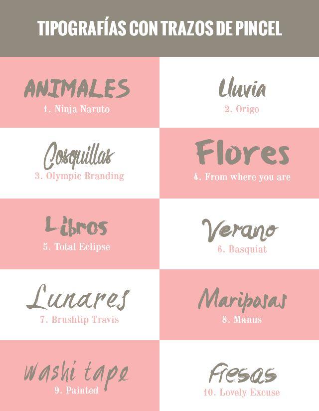 recursos molongos: 40 tipografías con trazos de pincel   40 free brush fonts