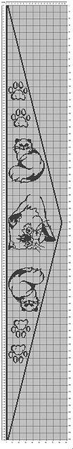 Chart für ein Dreieckstuch mit Perserkatzen