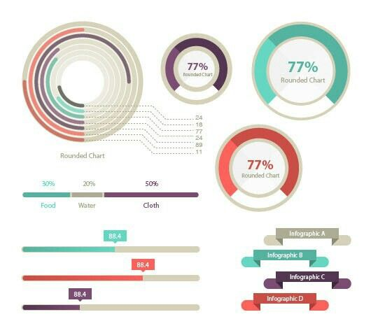 100+ Infographic Elements (Vector)