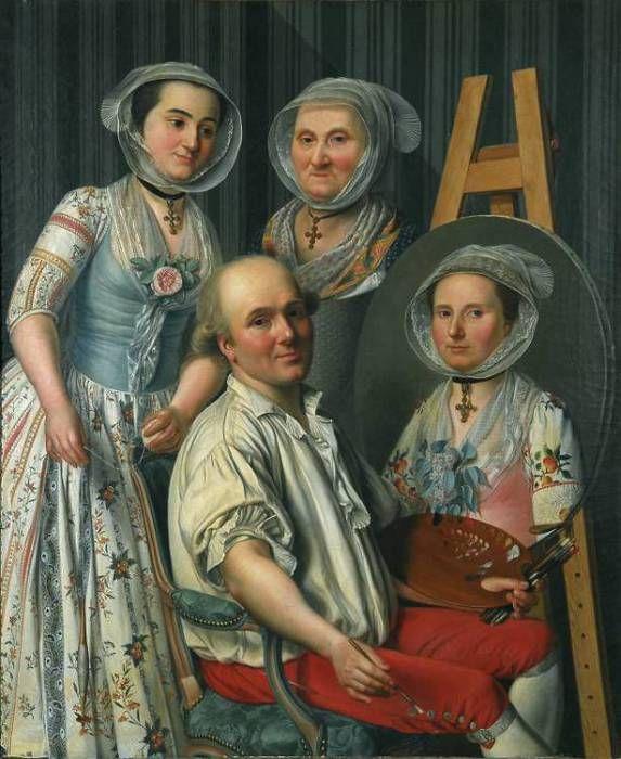 Antoine Raspal (1738-1811), La famille du peintre, vers 1780, huile sur toile
