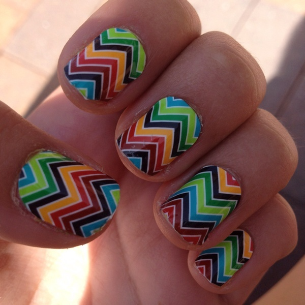 Jamberry Nails!, One of my favorites. Cheveron. Can't wait to get it FREE when I have my party! =)