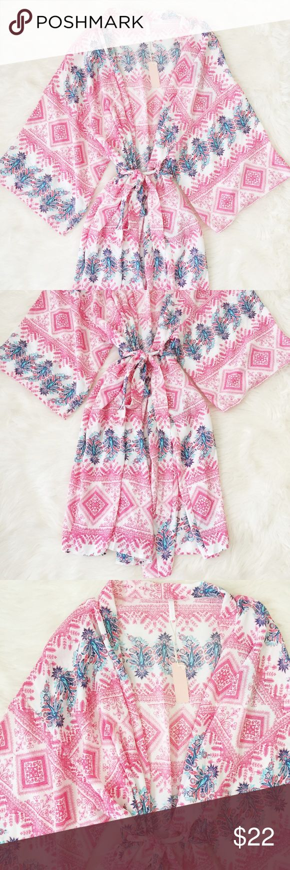 Pink Blush Aztec Printed Robe New w/ tags Aztec Printed Robe from Pinkblush perfect for maternity or non-maternity! Reasonable offers always accepted. Bundle more to save more 💖✨ Pinkblush Intimates & Sleepwear Robes