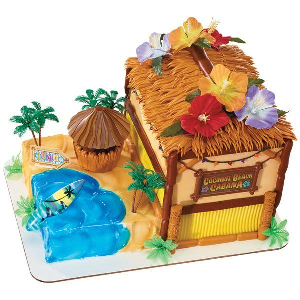 Tiki hut cake from publix