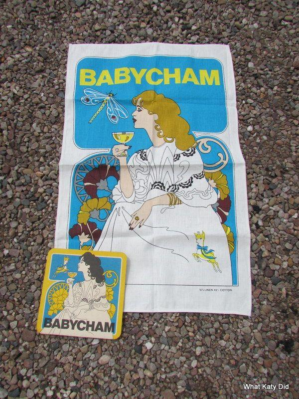 Babycham teatowel - http://whatkatydid.biz/product/textiles/babycham-teatowel/