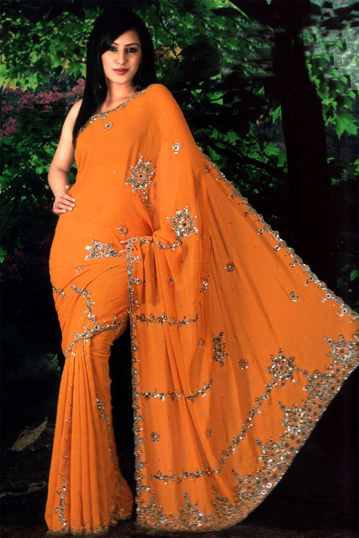 Diwali_Sari Orange
