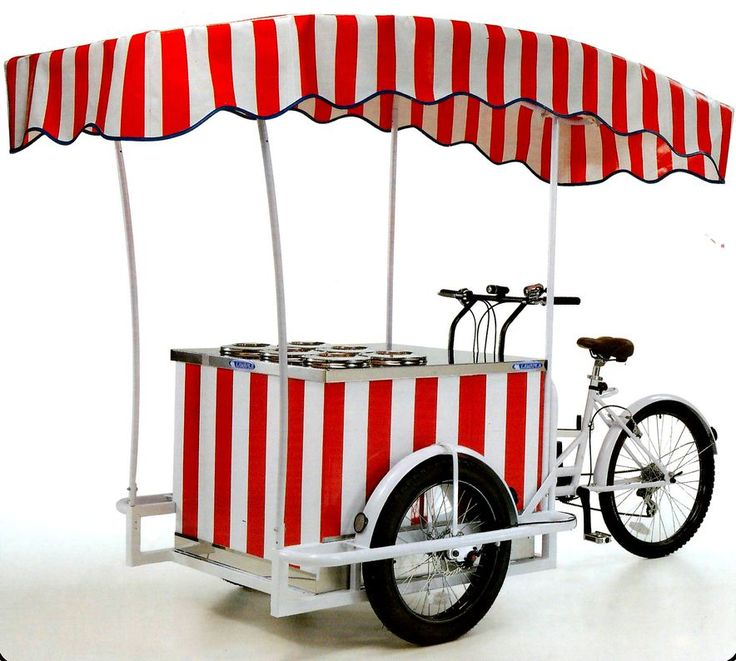 ITALIAN ICE CREAM CART on� BIKE TRICYCLE CARGO BIKE ITALY