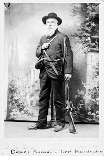 Daniel Freeman a physician and soldier was the first person to file a land claim using the Homestead Act on January 1st 1863.