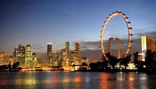 Menutup petualangan di hari pertama dengan naik Singapore Flyer. Sambil bersantap malam dalam kabin roda raksasa ini kita nikmati keindahan sudut-sudut Singapura dari udara #SGTravelBuddy