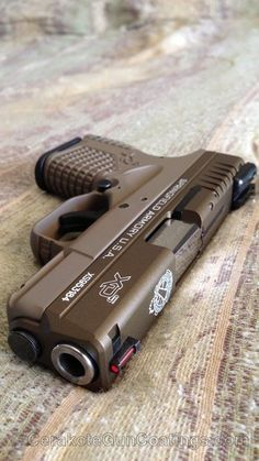 Two tone Springfield XD-S - H-265 Flat Dark Earth with H-148 Burnt Bronze
