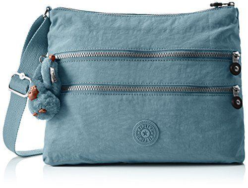 Kipling Alvar - Borse a tracolla Donna, Blau (Pastel Blue C), One Size