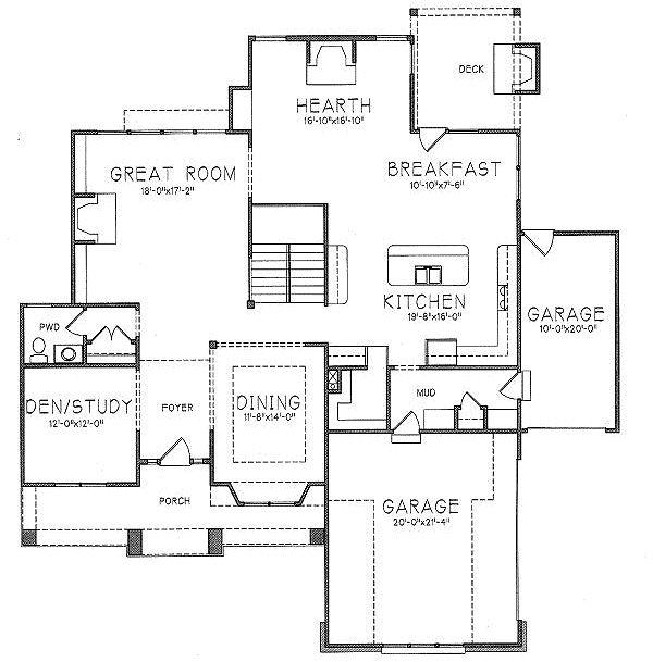 119 best floor plans images on pinterest floor plans for Prairie style garage plans