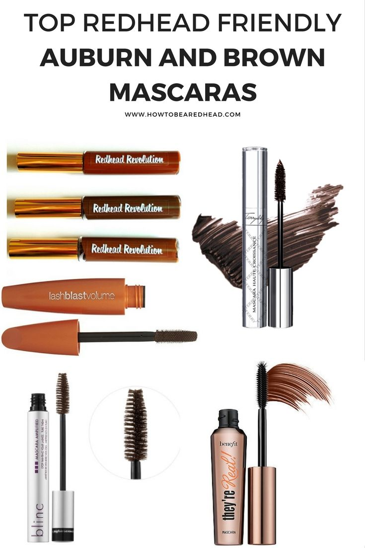 6 Redhead Friendly Auburn and Brown #Mascaras | How to be a Redhead #RedheadMakeup
