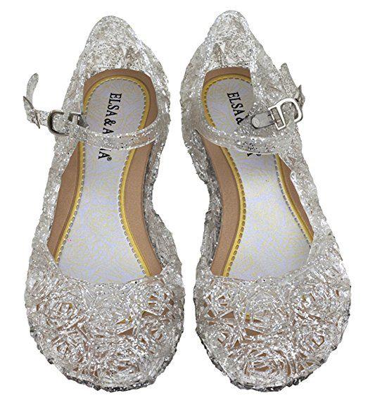 UK1stChoice-Zone ELSA & ANNA® Gute Qualität Neueste Design Mädchen Schuhe Prinzessin Schnee Königin Gelee Partei Schuhe Sandalen (EUR-33 (Innenlänge: 19cm), Weiß)