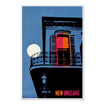 New Orleans Louisiana ~ Vintage Travel Poster by TheEclecticImage