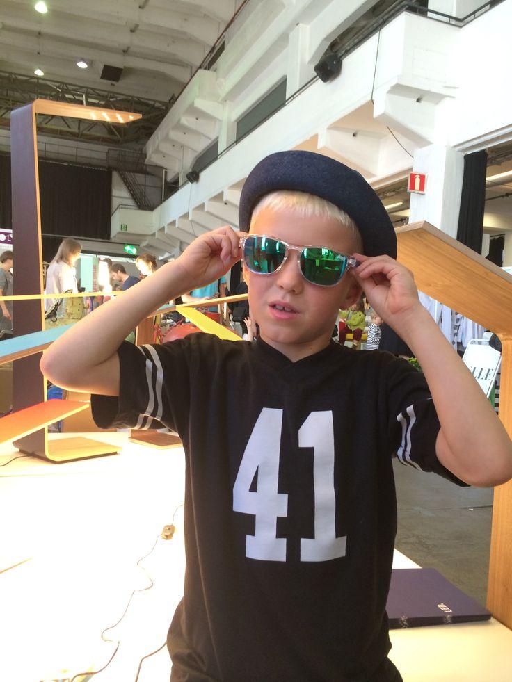 The future CEO of Tunto? Kosti wearing his new Costo hat. Design market 2014