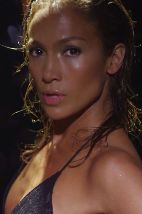 Jennifer Lopez's sweaty yet sexy look in our list of top music video beauty.