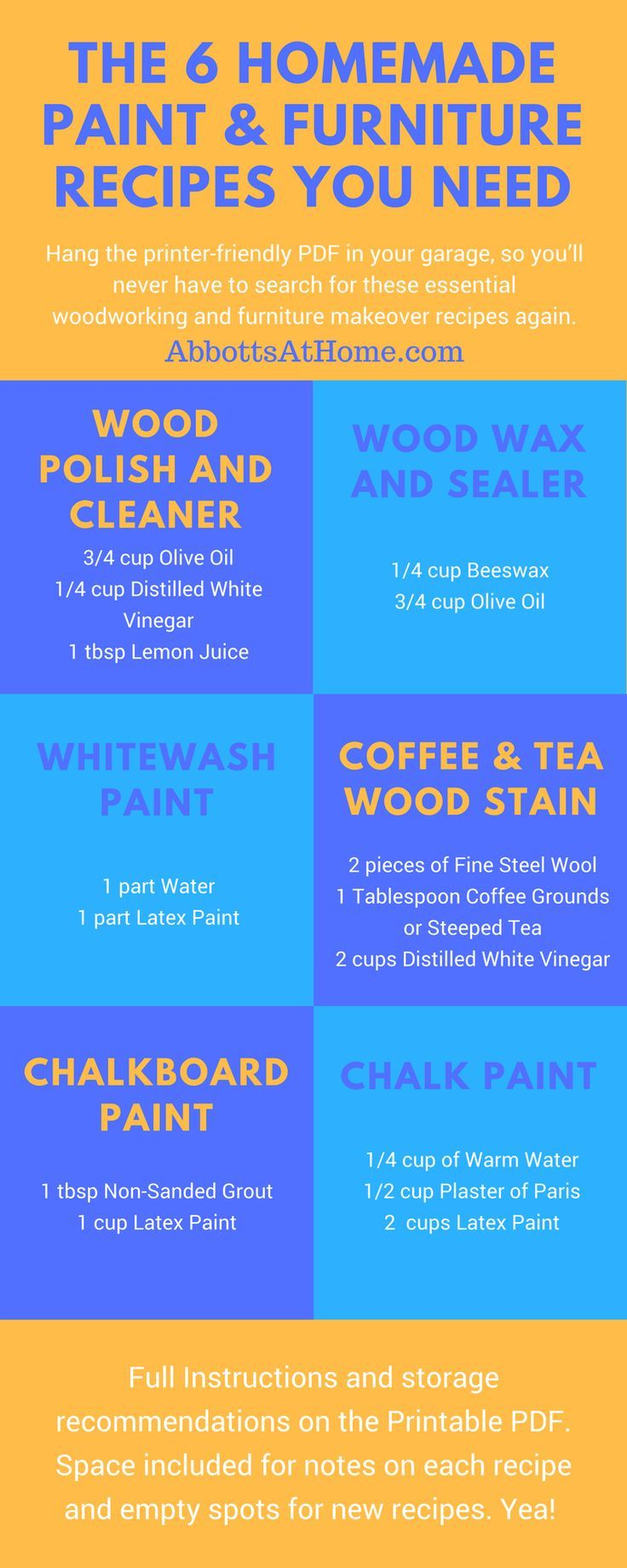 '6 Essential Homemade Wood Finishing Recipes...!' (via Abbotts At Home)