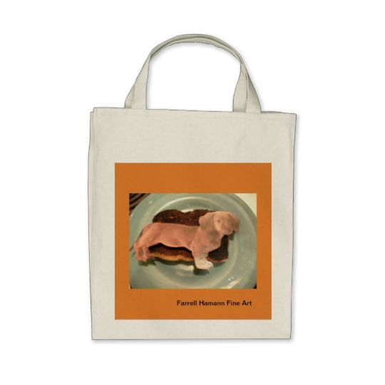 Grocery Tote Bag with Art