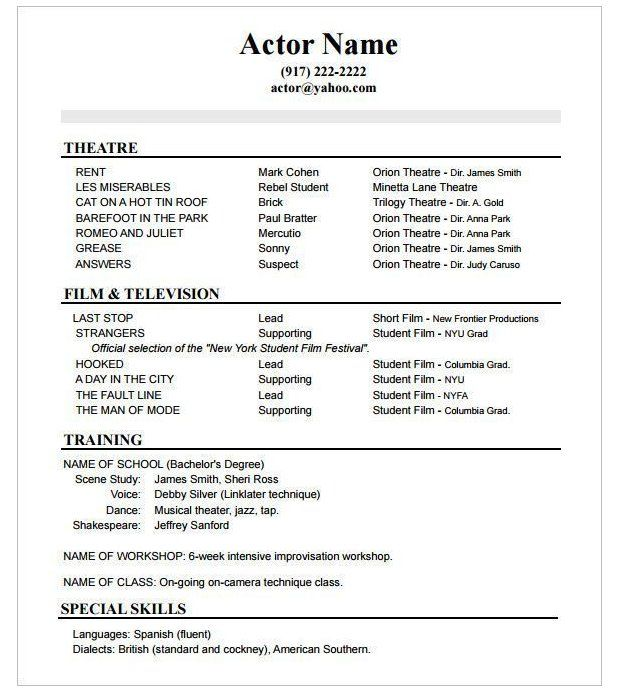 How To Create A Good Acting Resume Template Acting Resume Template Actingresumetemplate Acting Re Acting Resume Acting Resume Template Resume Template Word