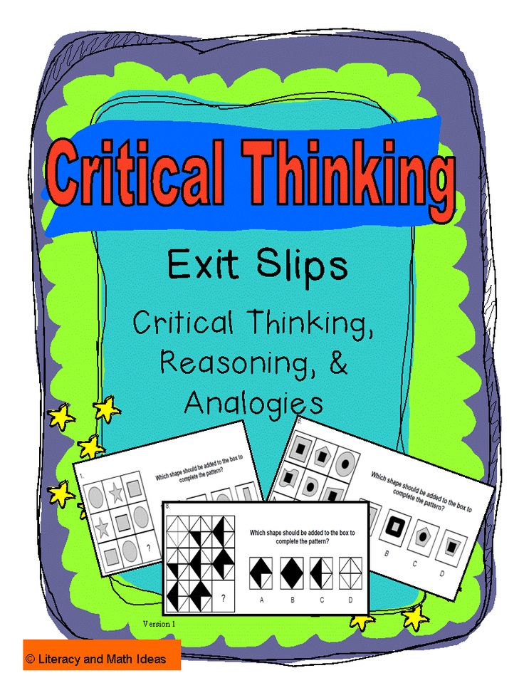 Fresh  amp  Fun Critical Thinking Activities  Grades       Laurie     Intrepidpath