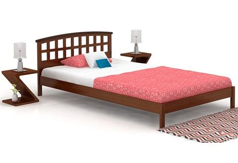 Emanuel Single Bed (Walnut Finish)