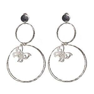 Boucles d'oreilles anneaux et papillons en Argent 925: ShalinCraft: Amazon.fr: Bijoux