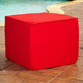 I like this pouf ottoman but only in green for the front porch.