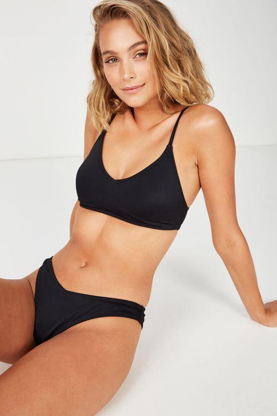 7b7282b224 Sara Rib V High Side Cut Cheeky Bikini Bottom   Style AKA I need ...