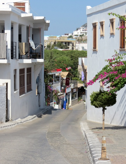 Akyarlar Street Leading Down to the Harbour