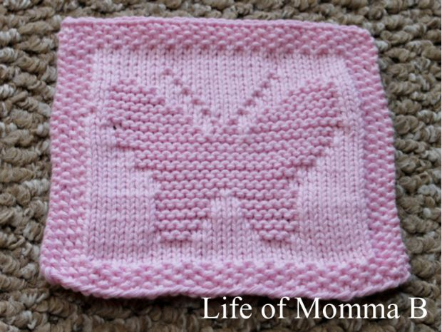 Large Butterfly Dishcloth with link to free pattern / www.Lifeofmommab.wordpress.com