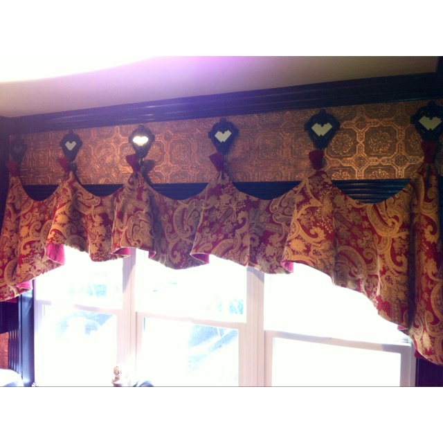My Kitchen Valances I Made Hanging On Mirrored