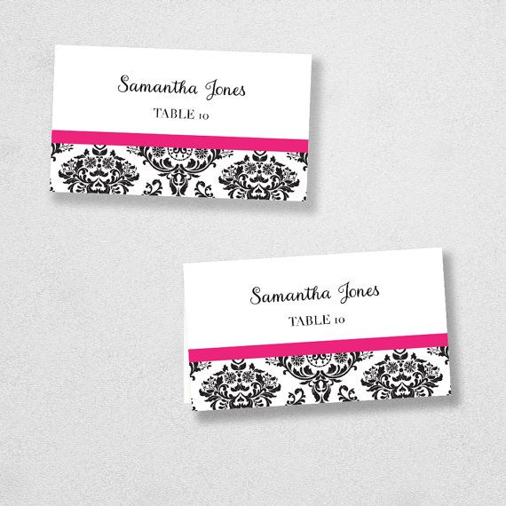 Best 25+ Place card template ideas on Pinterest Free place card - wedding card template