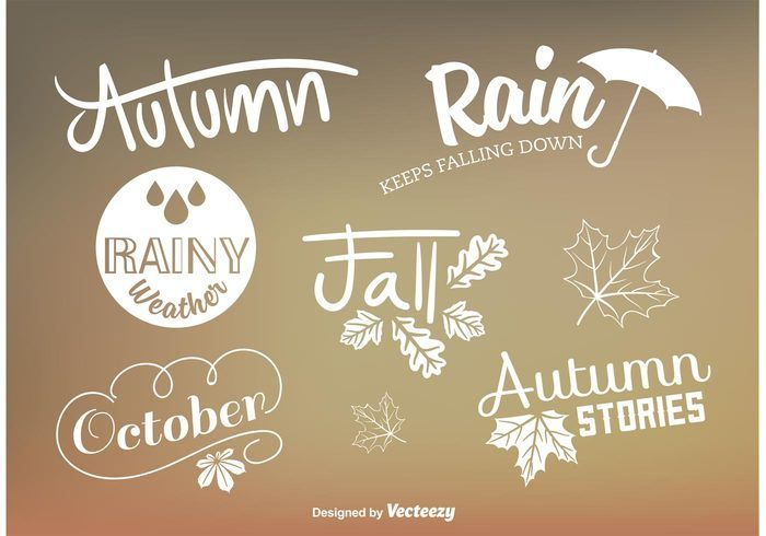Free vector Custom Autumn Type Vector Signs #23266