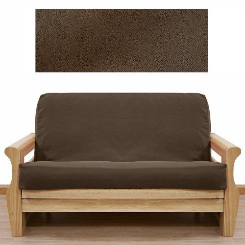 Ultra Suede Coffee Brown Futon Cover Full 5pc Pillow set 647 by SlipcoverShop. $159.00. In Stock - Ships within 2 days. See Sizing and Product Description below. Made in USA.. Made to fit Full size futon mattress measuring 54 inches wide, 75 inches long and up to 8 inches thick. Futon cover features 3 sided, concealed zipper construction.Set includes1 Full futon cover, 2 Square Pillows and 2 Bolster Pillows. Ultra Suede Coffee Brown fabric is durable, luxurious a...