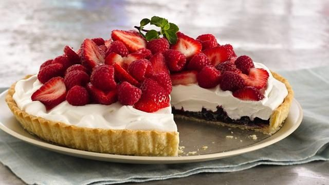 Red, White and Blue-Berry Pie