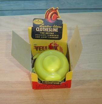 Lustro Ware: Yellow Plastic Clothesline with box